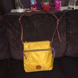 D & B Yellow Nylon Crossbody